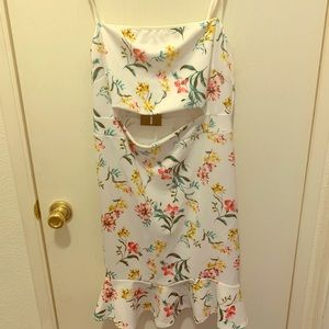 Summer Spaghetti Straps Pink and yellow Dress